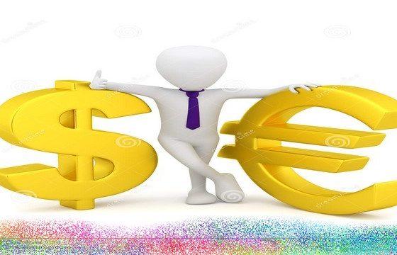 petits-gens-3d-symbole-dollar-et-euro-28718862